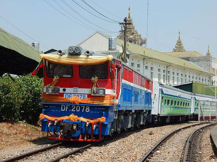 The 71-Up train equipped with modern facilities is ready to run on Yangon-Pyay Route.
