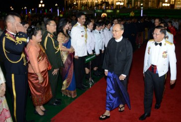 President U Thein Sein attends 71st Armed Forces Day commemorative dinner