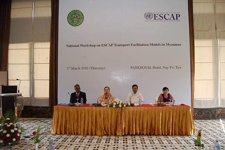 Experts participate in National Workshop on ESCAP Transport Facilitation Models.