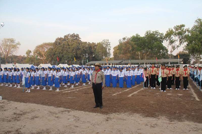 Scouts gather in Mt. Popa. Photo: Tin Maung Latt