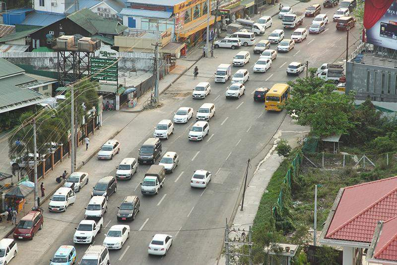 Yangon has seen an increase in number of cars since the country opened up in 2011. Photo: Moore Zack