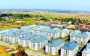 The low-cost apartments being seen. Photo: Min Htet Aung (Mandalay Sub-printing House)