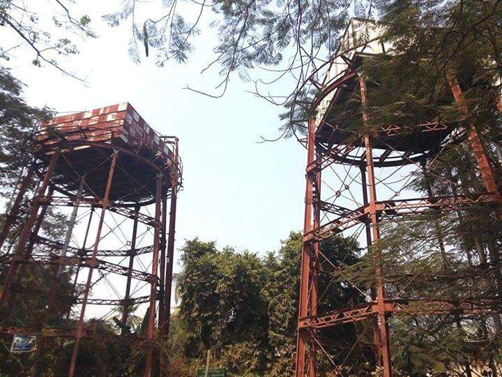 Water tanks are established in Monywa to supply water to local people.