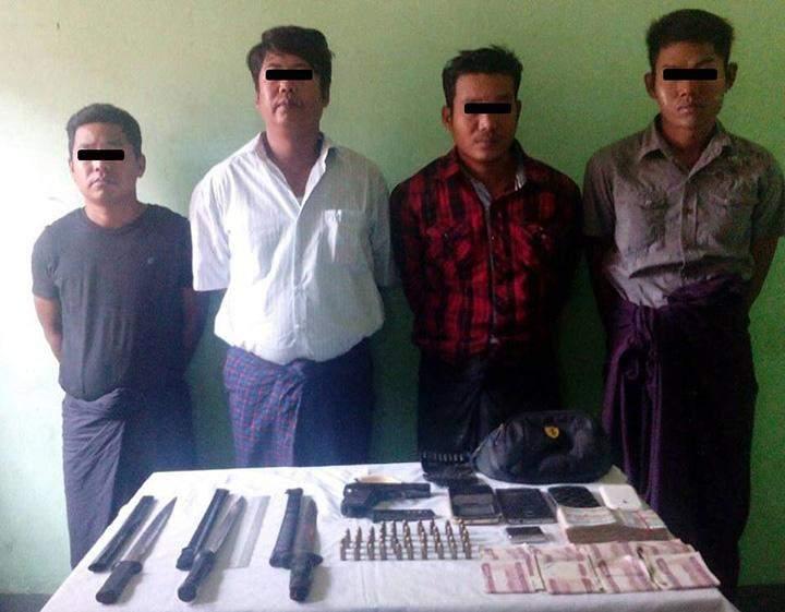 Myo Thet Naing, San Oo, Ko Ko Maung and Nyein Chan Ko.