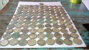 Antique silver coins. Photo: Maung Chit Lin