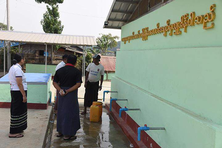 Kanbawza's drinking water supply facility being seen  in Aungban .