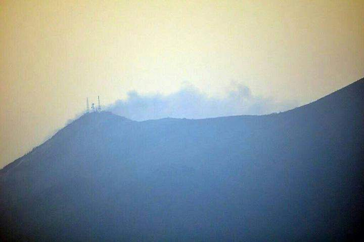 Forest fire on Mt Popa.