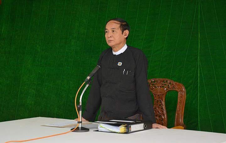 Pyithu Hluttaw Speaker U Win Myint.