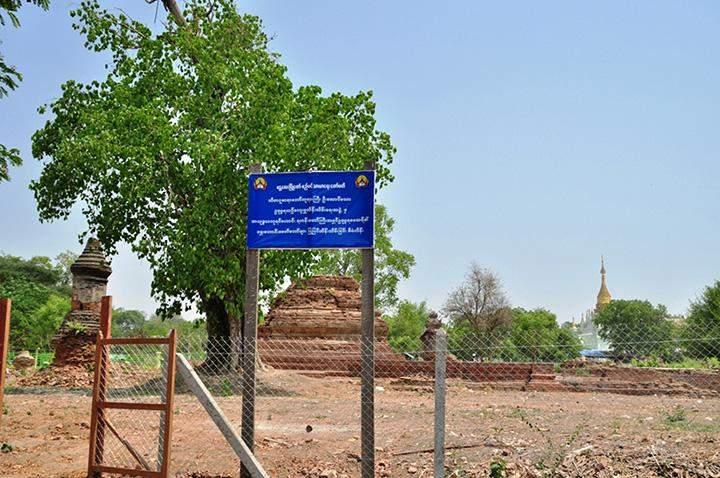 King Udumbara memorial ground is seen in Amarapura.