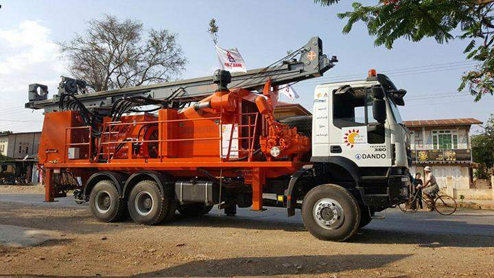 KBZ foundation's new machinery can drill down up to a depth of 1,800ft.