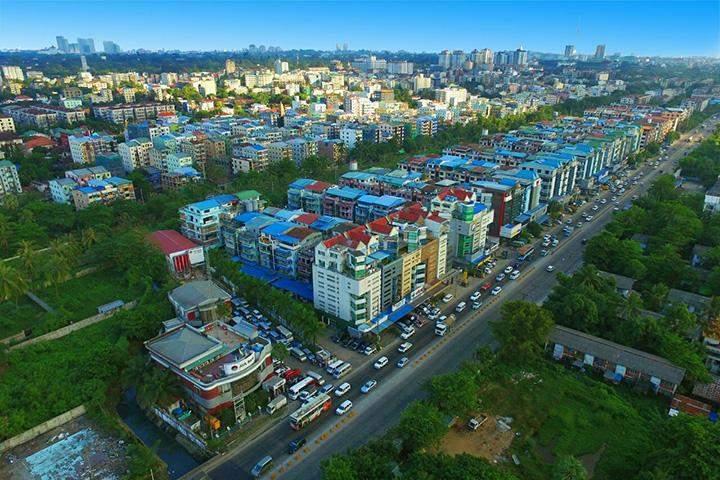 A panoramic view of Yangon.