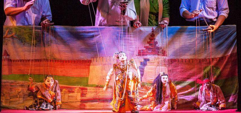 A Myanmar puppet performance in Mandalay. Photo: Tin Maung