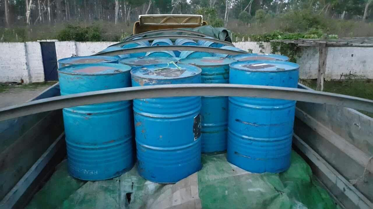 Caches of yaba pills are hidden in empty tanks. Photo:MPF