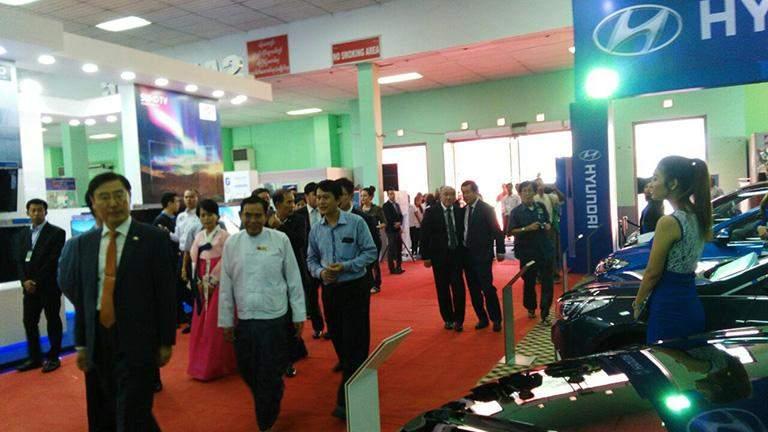 Hyundai Motor Myanmar Showroom seen at the Tatmadaw Hall.