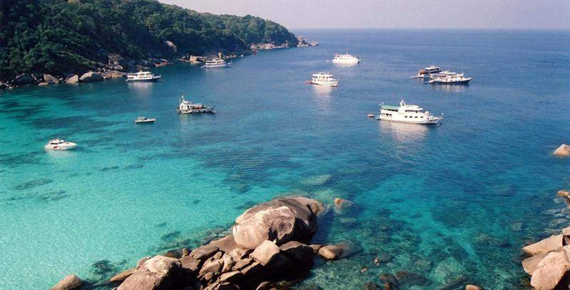 Cruise ships in the Myeik Archipelago.