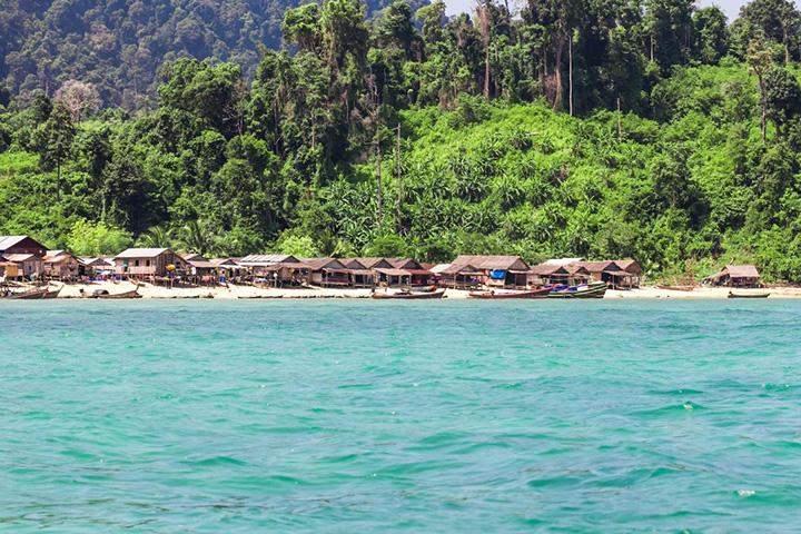 A village in Myeik Archipelago in southern Myanmar.