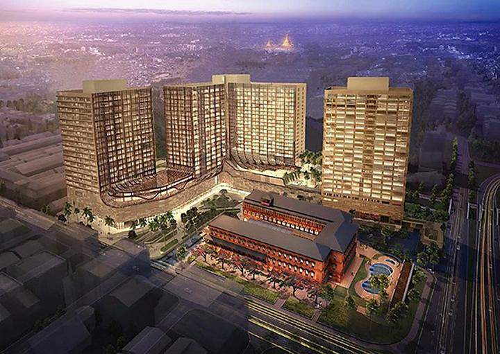 Image of completed redevelopment project in Yangon.