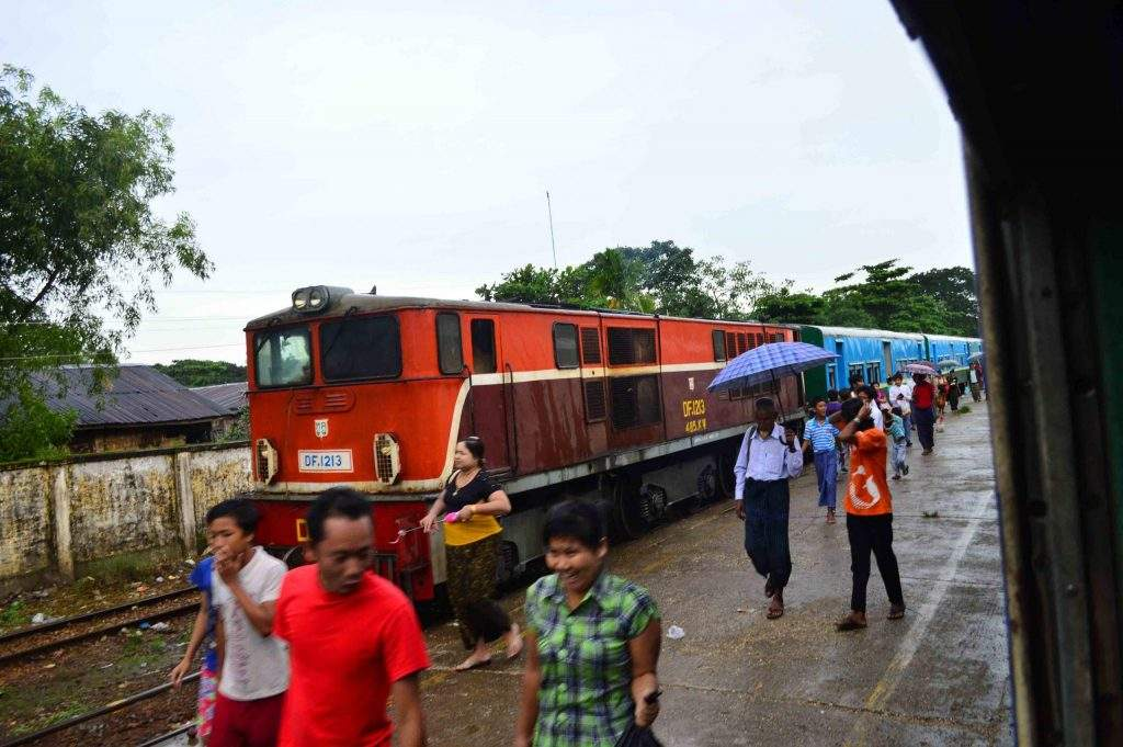 Yangon circular rail line is set to be upgraded. Photo: Aye Min Soe