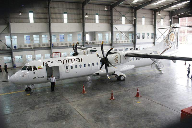 New aircraft ATR72-600 of Myanmar National Airlines seen at Yangon International Airport. Photo: Myanmar National Airlines