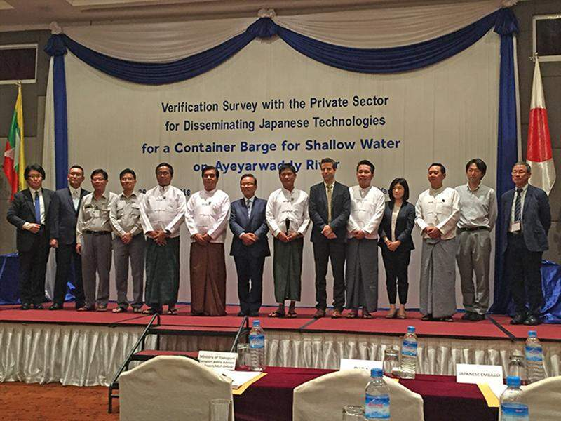 Group photo taken at a seminar held by SA Marine Myanmar Co Ltd.