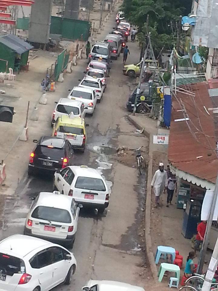 Traffic jam on the Banyadala Road.