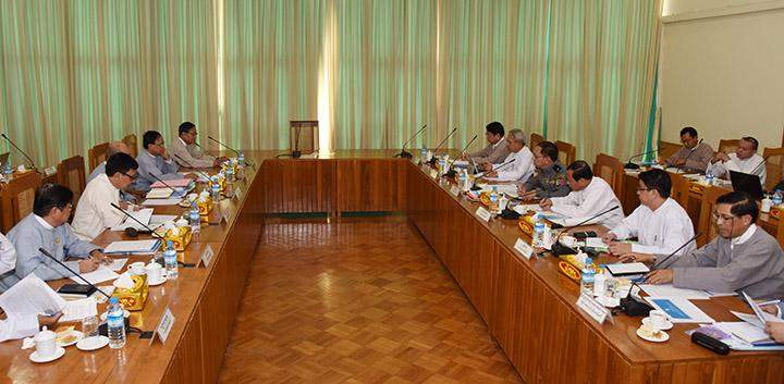 Working committee on organising the Union Peace Conference—21st Century Panglong holds the meeting in Nay Pyi Taw.