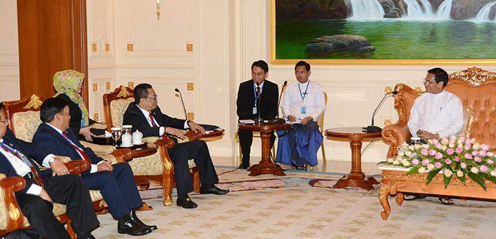 Vice President U Henry Van Thio receives Indonesian parliamentary delegation led by Mr. H. MAHYUDIN, Vice Chairman of People's Consultative Assembly of Indonesia.