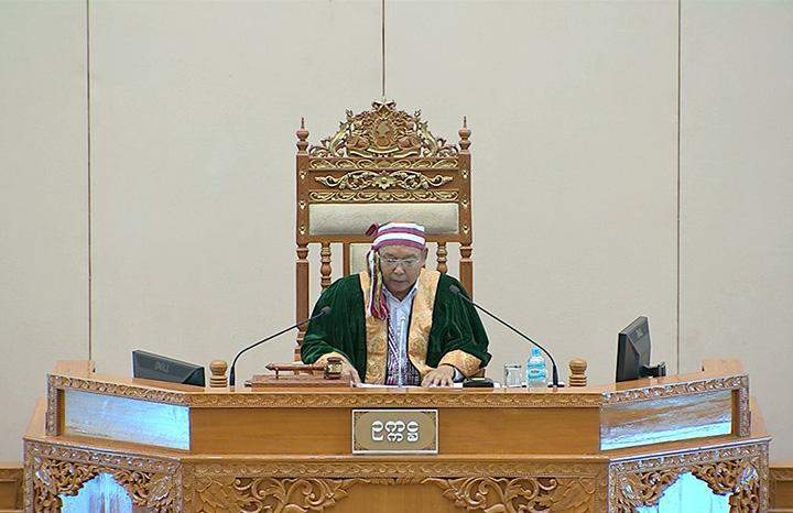 Amyotha Hluttaw Speaker Mahn Win Khaing Than.