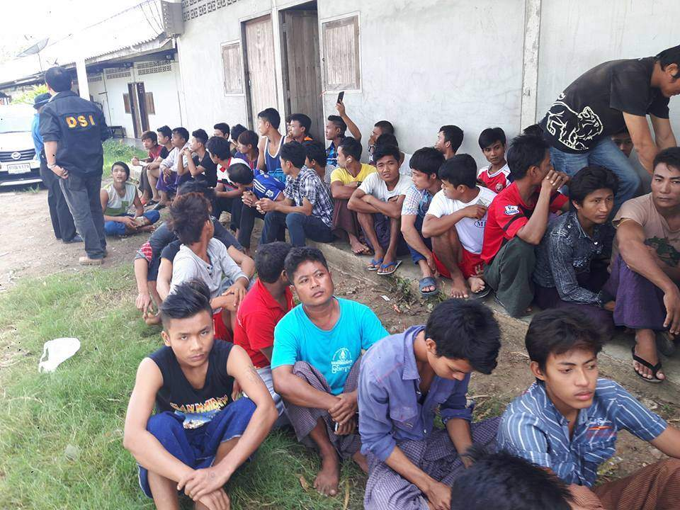 Victims of forced labour being seen after salvation. Photo: Kyaw Soe (Kawthaung)