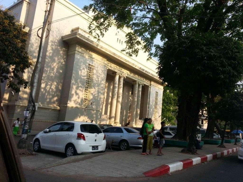 The grand building of Yangon Stock Exchange being seen. Photo: Ye Htut Tin