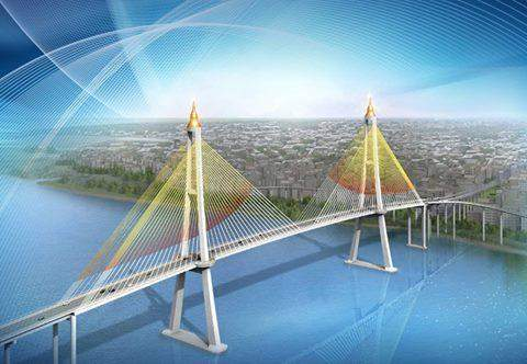 Conceptual design of Dala bridge. Handed out photo by Ministry of COnstruction