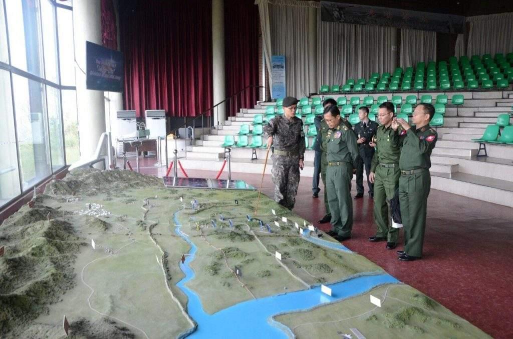 Vice Senior General Soe Win visits Panmunjieom Demilitarized Zone. Photo: Myanmar News Agency