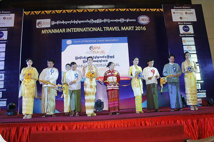Opening ceremony of Myanmar International Travel Mart 2016 being formally opened.