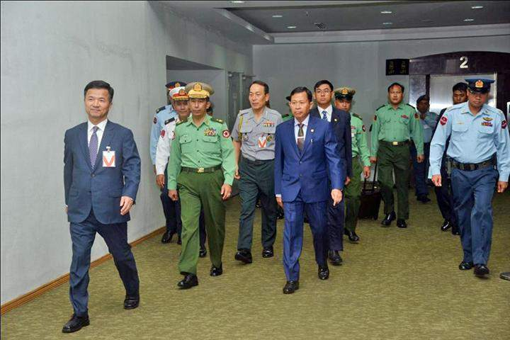 Myanmar military delegation leaving for RoK to attend Defense Expo Korea 2016.
