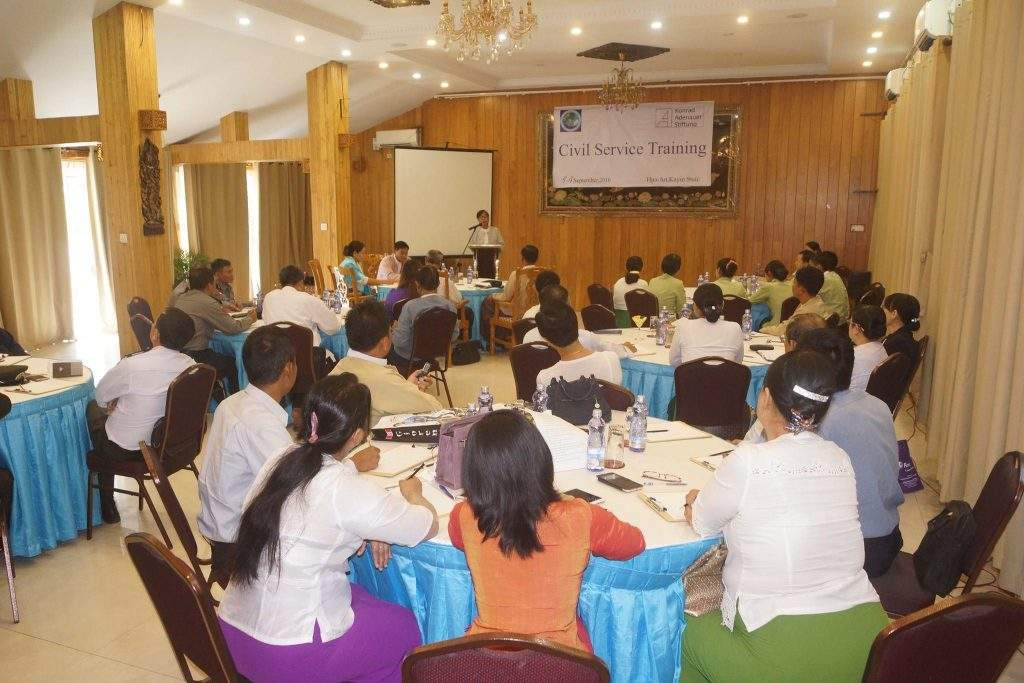 The opening ceremony of Civil Service Training course in progress. Photo: Saw Myo Min Thein (Kayin State IPRD)
