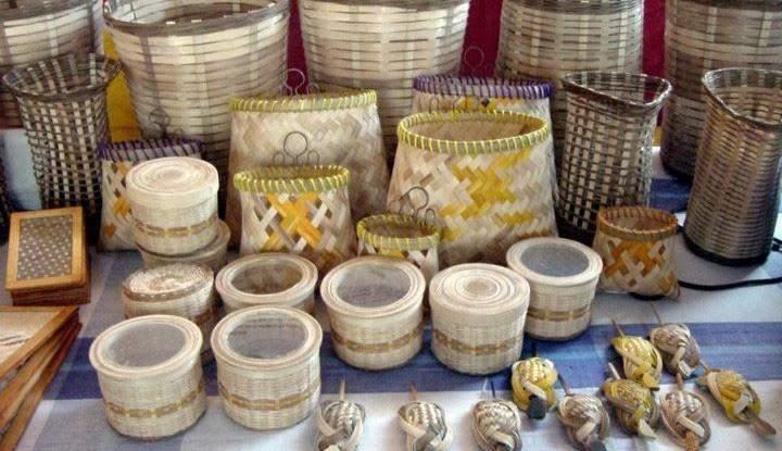 Bamboo products on display. Photo: Soe Win (MLA)