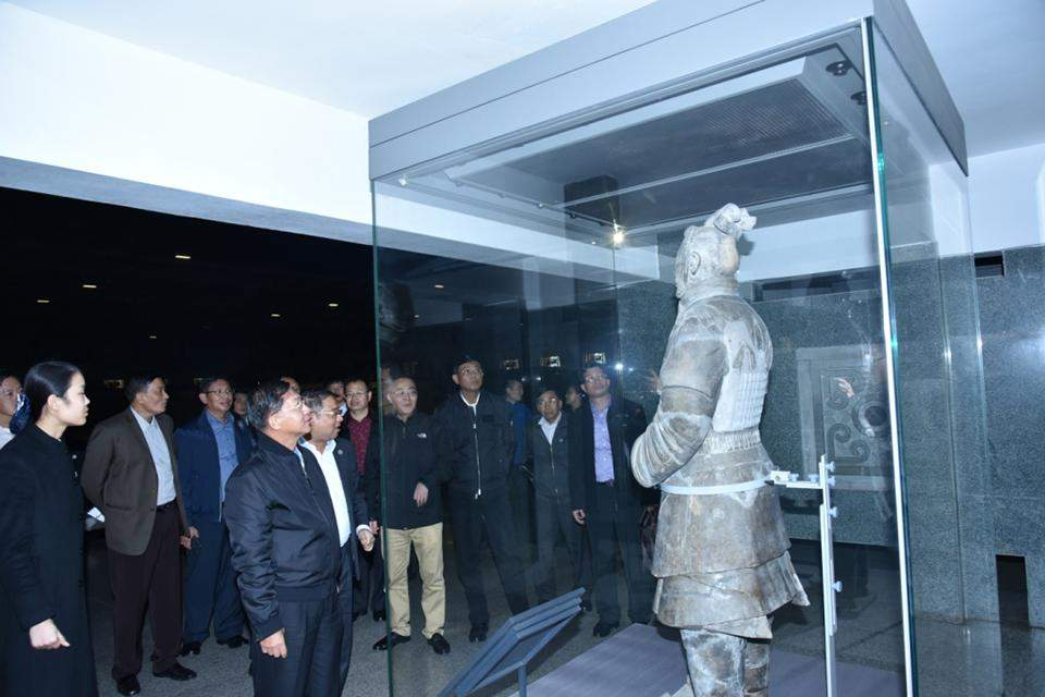 Terracotta warriors statues are seen at the site museum in Xian.
