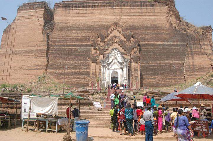Mingun Pahtodawgyi in Sagaing is one of the tourist attractions in central Myanmar.