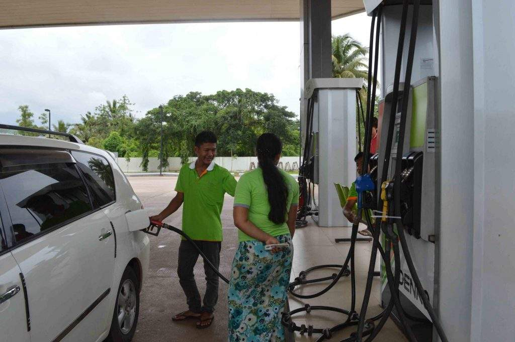 The price of fuel increased from 10 per cent to 14 per cent in the domestic market. Photo: Aye Min Soe