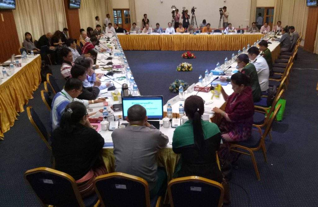 The framework review meeting on political dialogue in Yangon on 20th October, 2016. Photo: Pho Htaung