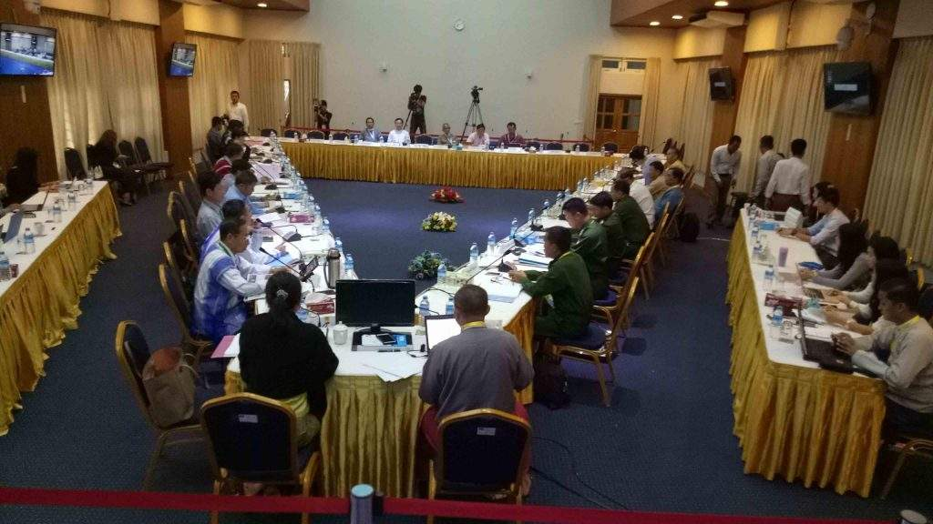 The framework review meeting on political dialogue in Yangon on 21 October. Photo: Phoe Htaung