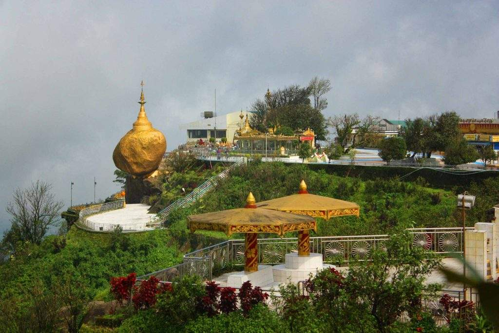 Kyaikhtiyo Pagoda being seen from a distance. Photo: NZM