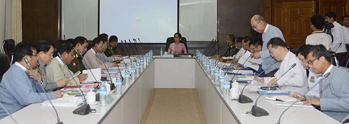 Meeting being held to implement peace, stability, development in Rakhine State .