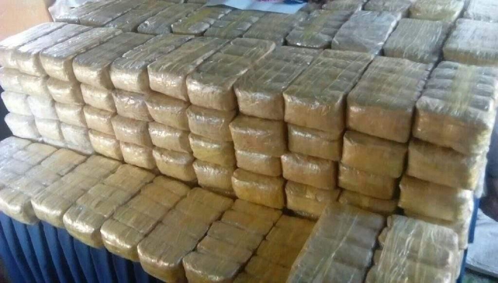 Seized yaba pills being seen. Photo: Myanmar Police Force