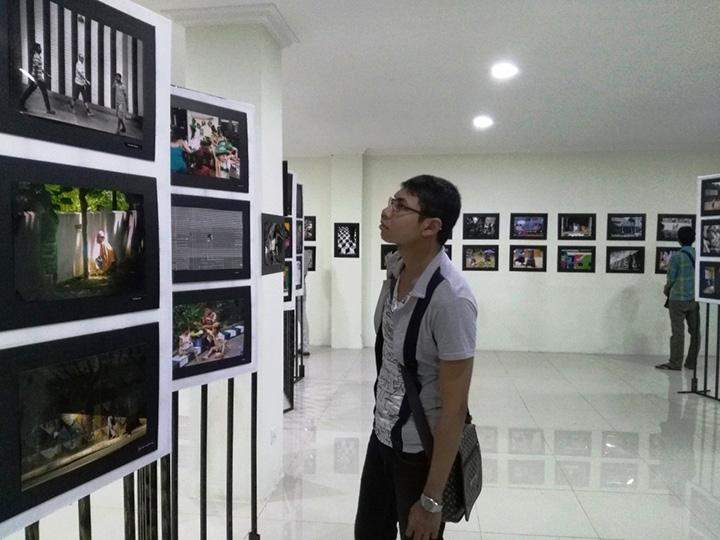 """The photo exhibition called """"Street Photography""""."""