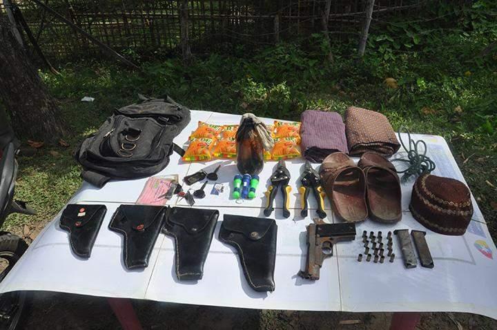 A pistol and ammunition seized.