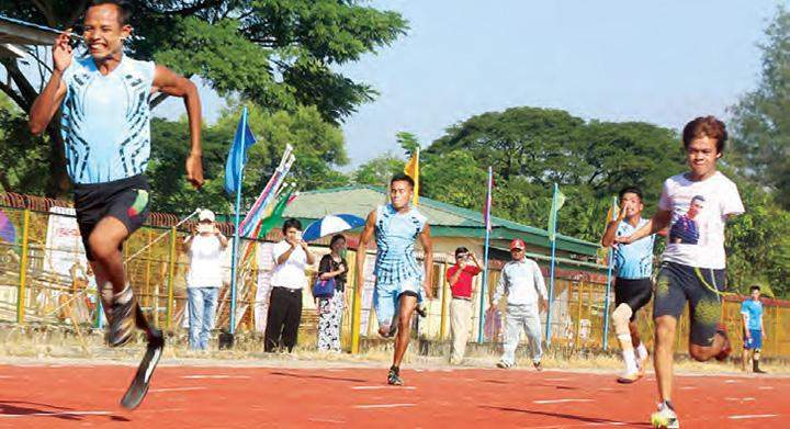 Athletes participating in 28th national para-sport competition.