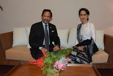 Daw Aung San Suu Kyi meets separately with Indonesian President and Brunei Sultan