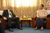 Thura U Shwe Mann receives New Zealand's Ambassador