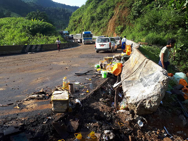 Two fatal accidents happen on Myawady Kawkareik road on Tuesday 3 copy